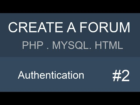 MYSQL PHP HTML Forum tutorial - Part 2