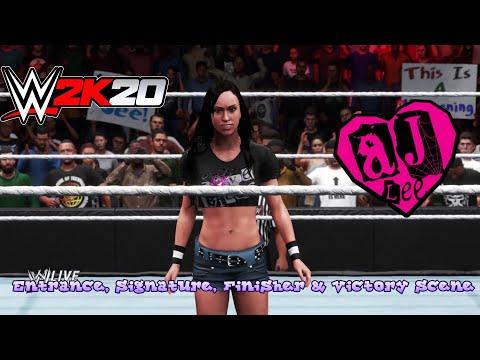 WWE 2K20 - AJ Lee Entrance, Signature, Finisher & Victory Scene