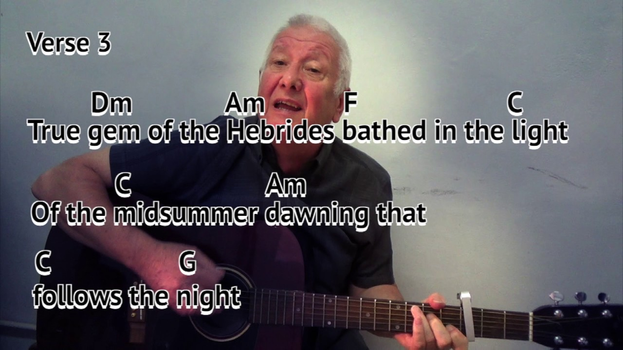 The Dark Island Benbecula Island Easy Chords Guitar Lesson With