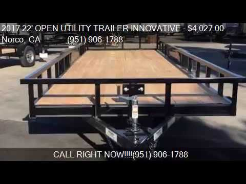 2017 22' OPEN UTILITY TRAILER INNOVATIVE TANDEM for sale in