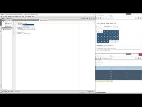 Angularjs bootstrap datepicker example