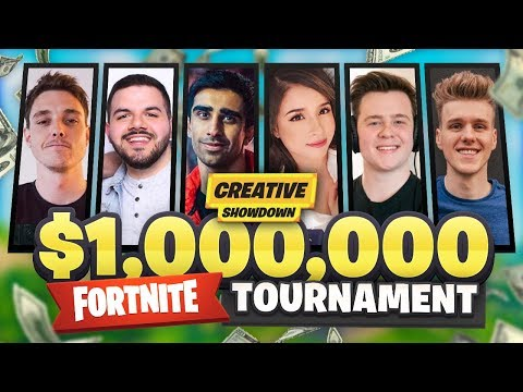 Fortnite $1,000,000 CREATIVE SHOWDOWN ft. Lazarbeam, Lachlan, Muselk & More!