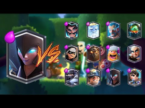 NIGHT WITCH VS ALL LEGENDARY CARDS IN CLASH ROYALE