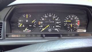 Koude start Mercedes-Benz W201 190E 2.0 M102 1990 van de binnenkant