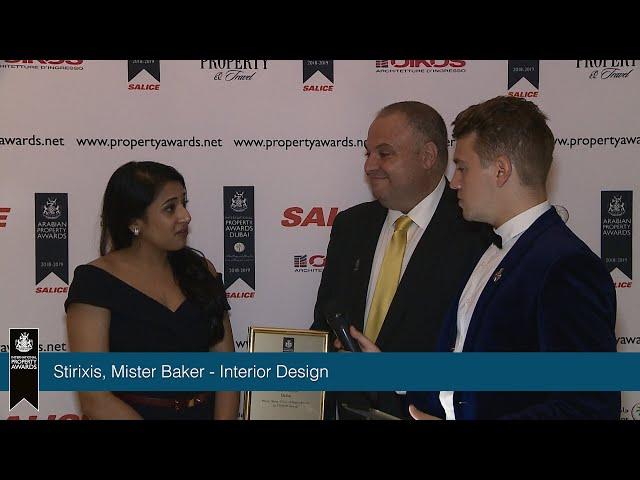 Stirixis & Mister Baker – International Property Awards Dubai