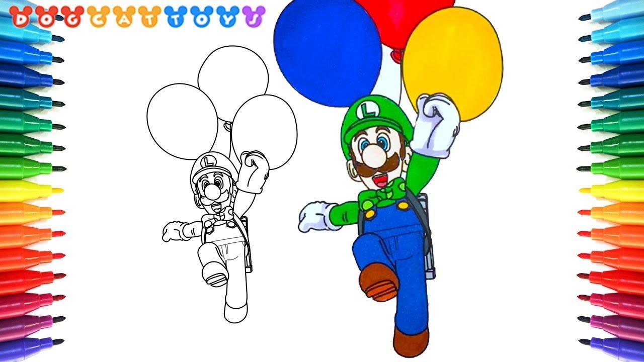 How To Draw Super Mario Odyssey Luigi Balloon 197 Drawing