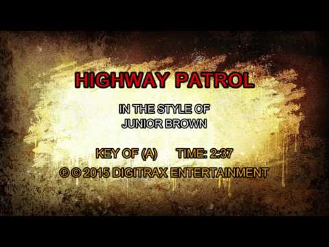 Junior Brown - Highway Patrol (Backing Track)