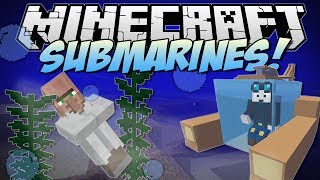 Minecraft | SUBMARINES! (Underwater Villages, Atlantis Tools & More!) | Mod Showcase