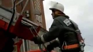 обучение пожарных подъём по АЛ-30