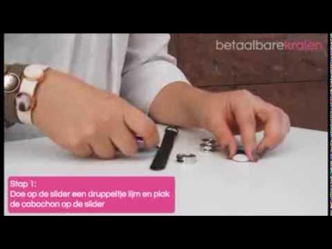 Sieraden maken: Hoe maak je een Cuoio armband met Polaris Elements cabochon? ♡ DIY