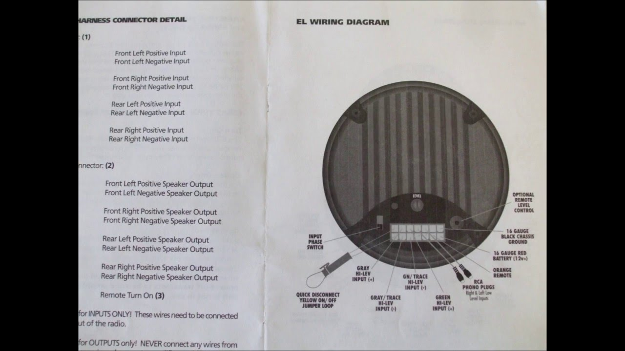 bazooka powered sub woofer wiring schematics youtube Perkins Marine Alternator Wiring at Bazooka El Series Wiring Diagram