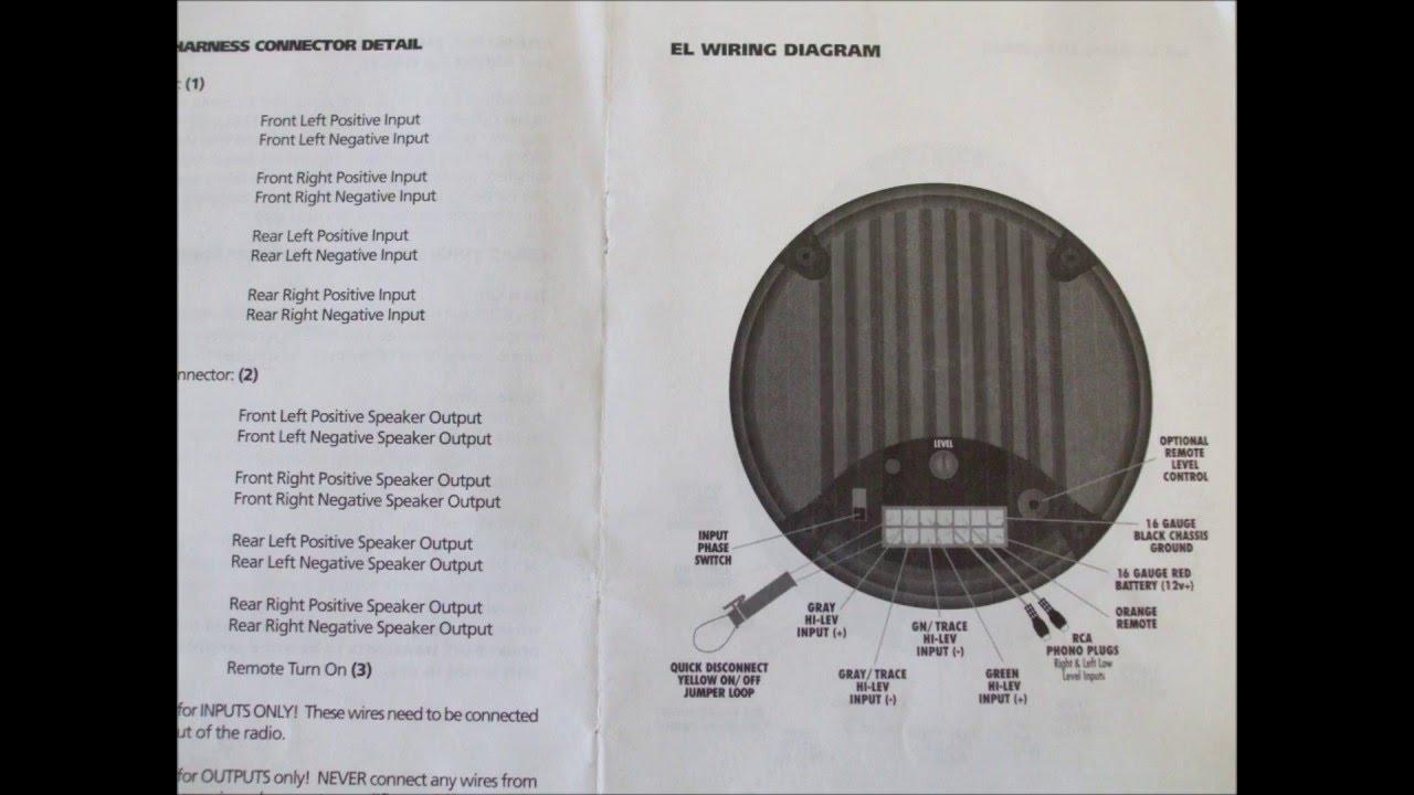Bazooka powered sub woofer wiring schematics - YouTube YouTube