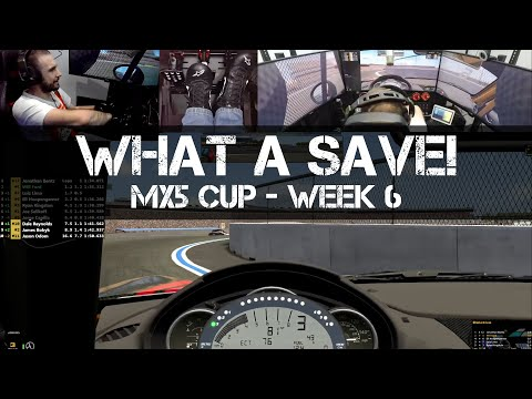WHAT A SAVE! - IRacing MX5 Cup - Week 6 - Charlotte Motor Speedway Roval