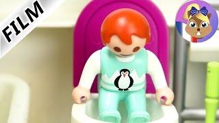 Film Playmobil en français - Emma bouche les toilettes! Petit mais violent! Famille Brie
