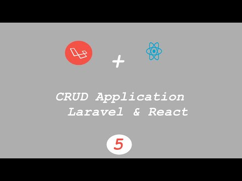CRUD Application using #Laravel & #React (adding contacts) thumbnail