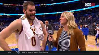 Kevin Love on Osman's unorthodox pass: 'I don't know if that's going on the career highlight reel'