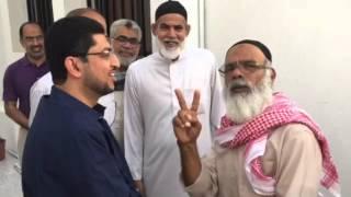 عوائل الشهداء في زيارة للرمز الوطني المفرج عنه صلاح الخواجة 18/3/2016