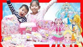クリスマス おかし お楽しみボックス HAGっと! プリキュア 大量 開封  Christmas Surprise Candy BOX Character Toys unboxing