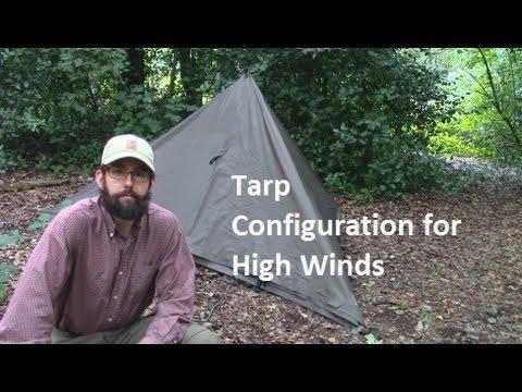 High Wind Tarp Configuration