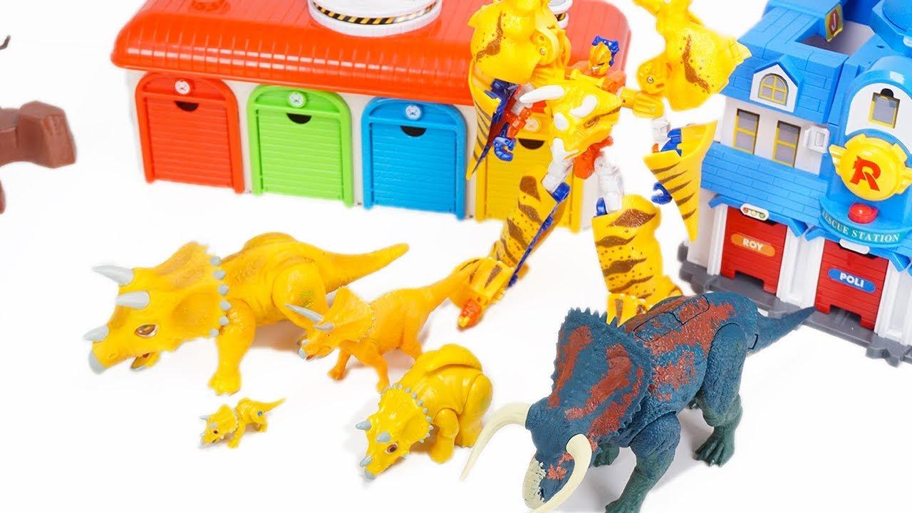 Jurassic World Nasutoceratops and FIve Triceratops Dinosaur Toys for Kids  ToyMoon