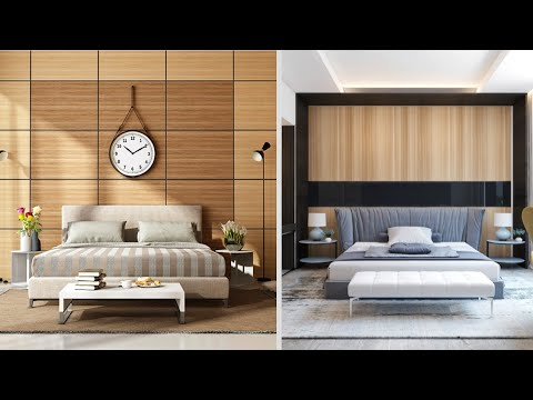 Bedroom Wood Wall Paneling And Cladding Decoration For Wall 2020 - Wooden Wall Panel For Bedroom - YouTube