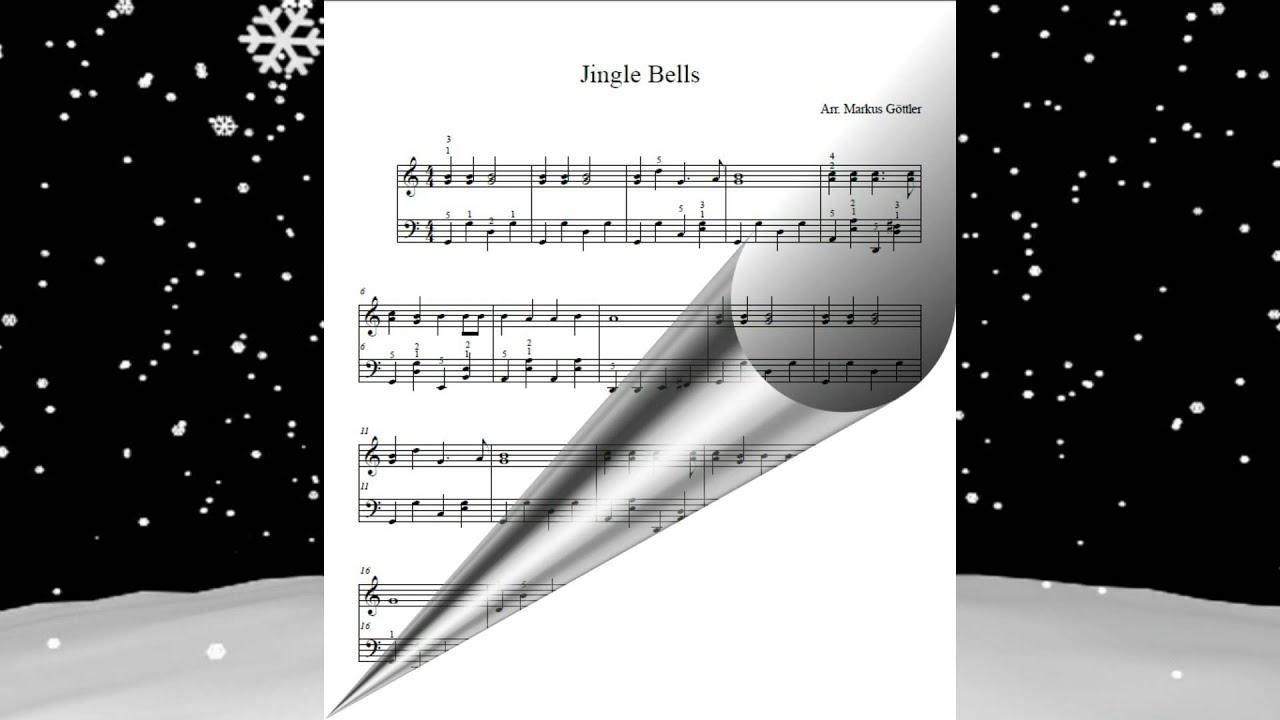Jingle Bells - Klaviermusik, Klaviernoten, Weihnachtslied Englisch ...