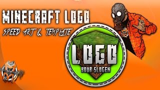 How To Make A Minecraft Logo - Speed art and Template