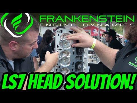 LS7 Cylinder Head Dropped Valve Solution with Frankenstein Engine Dynamics