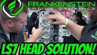 LS7 Cylinder Head Dropped Valve Solution with Frankenstein Engine Dynamics