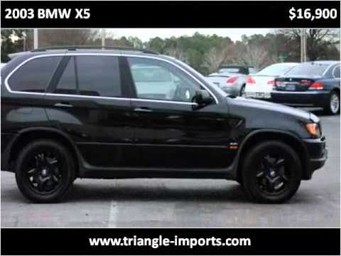 2003 BMW X5 available from Triangle Imports