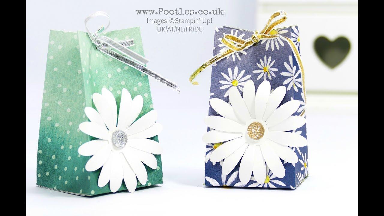 Big Daisy Small Bag! Using Stampin\' Up! Delightful Daisy - YouTube