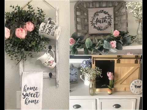DOLLAR TREE🌳  AND MICHAELS SPRING HAUL & DECORATING IDEAS💡 2019