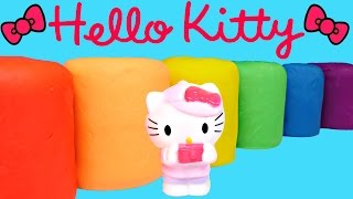 new play doh hello kitty fash ems series 2 surprise eggs opening playdough toy egg surprises