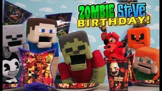 Five Nights At Freddy's Zombie Steve Happy Birthday Party Supplies FnAf plush Bendy ink machine