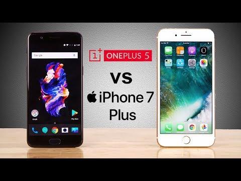 OnePlus 5 vs iPhone 7 Plus - Champion Defeated? Speedtest Comparison