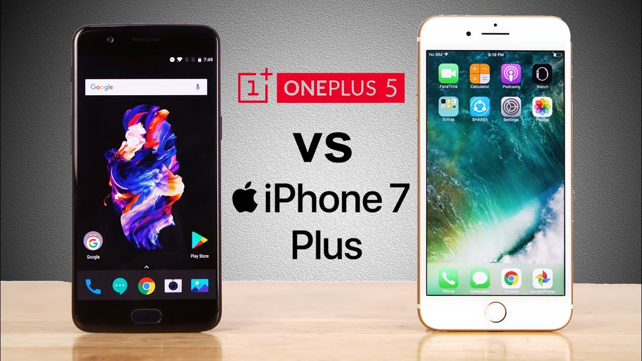 ONEPLUS 5 VS IPHONE 7 SPEED TEST