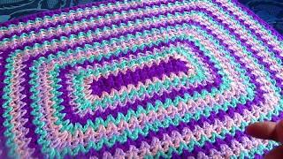 🌸Коврик прямоугольный.Утилизируем остатки пряжи.Вязание крючком.Crochet And Knitting