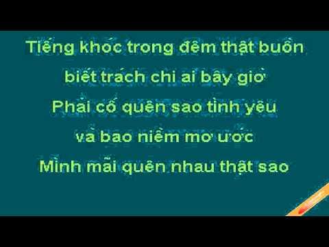 Minh Mai Quen Nhau That Sao Karaoke - Hoàng Bách - CaoCuongPro