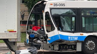 City bus driver injured in Montreal North crash (June 29 2020)
