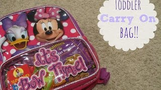 Toddler Carry On Bag! | The Dodge Family