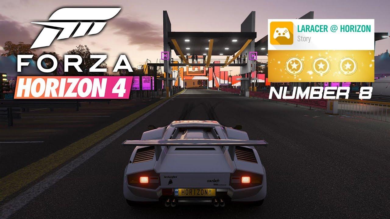 laracer @ horizon number 8 3 stars 4k 60fps gameplay walkthrough