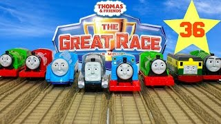 THOMAS AND FRIENDS THE GREAT RACE #36 | TRACKMASTER GLOW IN THE DARK THOMAS Kids Playing Toy Trains