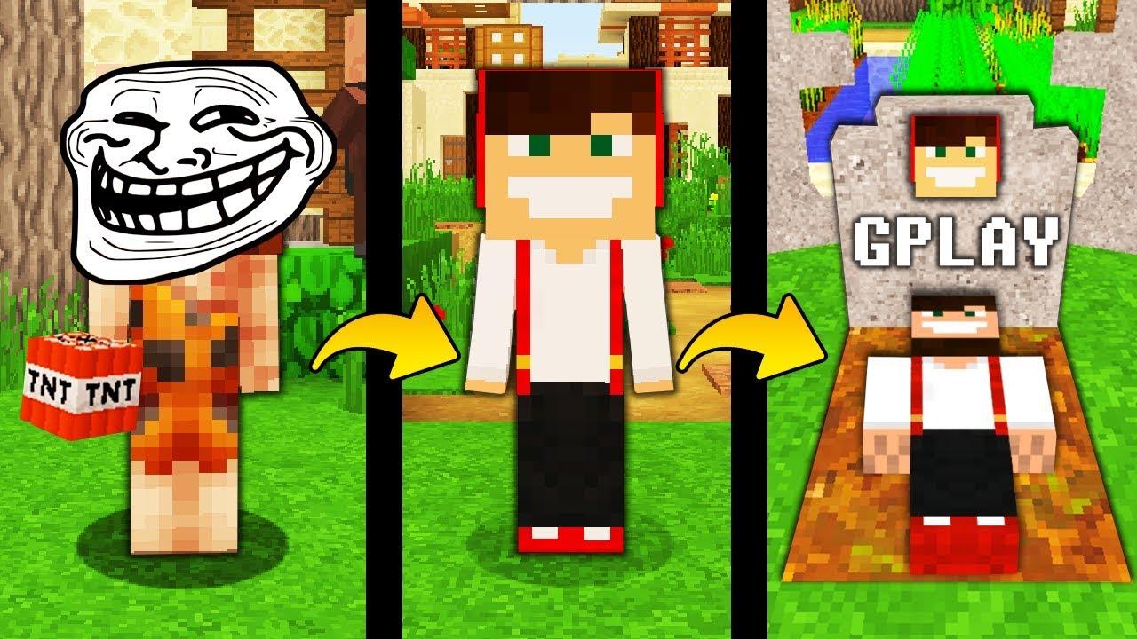 Jak Trollowac Gplaya W Minecraft Minecraft Troll Youtube