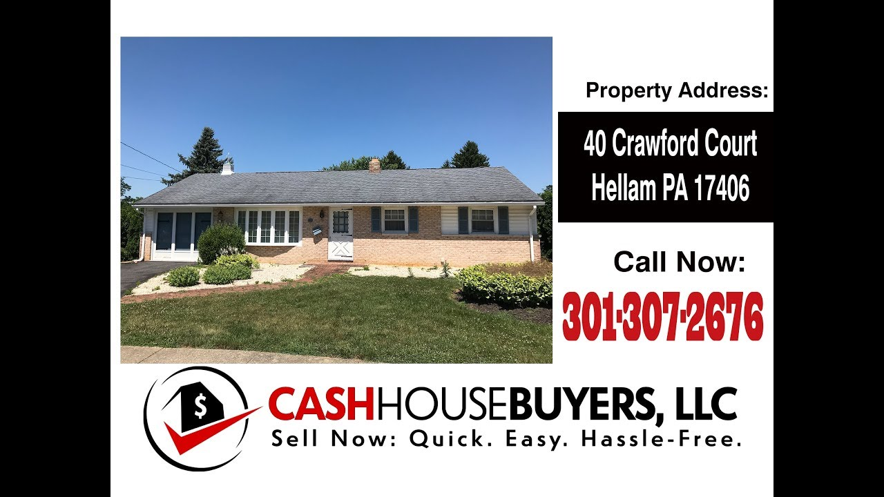 TESTIMONIAL We Buy Houses Hellam PA  | CALL 301 307 2676  | Sell Your House Fast Hellam PA