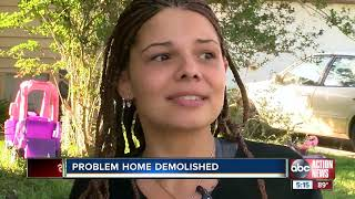 Citrus County demolishes home notorious for drugs and crime, neighbors relieved