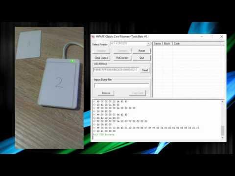 Kopiowanie klonowanie bloku 0 UID karty mifare 1k przy pomocy czytnika acr122u
