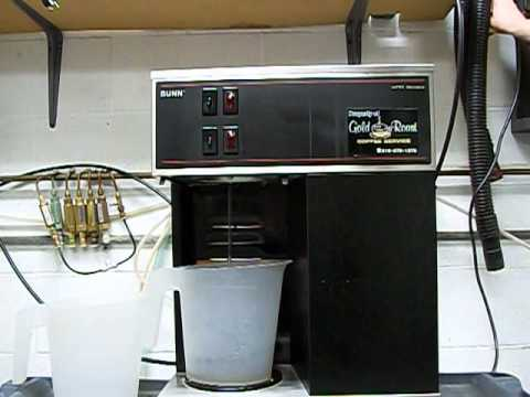 Basic Use of a Bunn VPR Machine - YouTube
