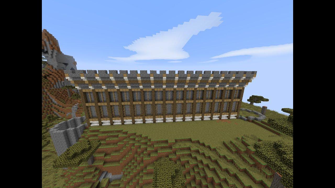 Minecraft construction d 39 un ch teau la muraille youtube - Chateau de minecraft ...