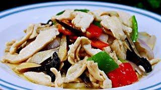 【懶人廚房】比肉還好吃的雞樅菌,搭配雞脯肉,清爽美味,實在太好吃了!