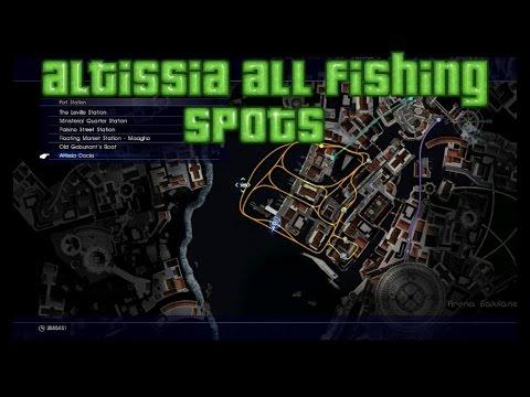 Final fantasy 15 altissia all fishing spots youtube for Final fantasy 15 fishing